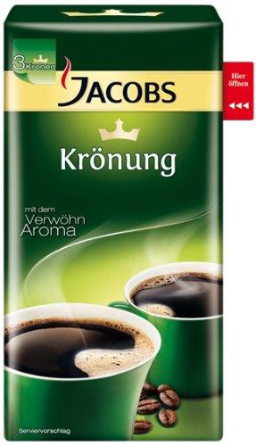 Jacobs Krönung Original Röstkaffee Gemahlen – 1 x 500 g