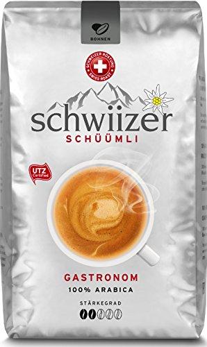 Schwiizer Gastronom Ganze Kaffeebohnen 1kg, 1er Pack (1 x 1000 g)