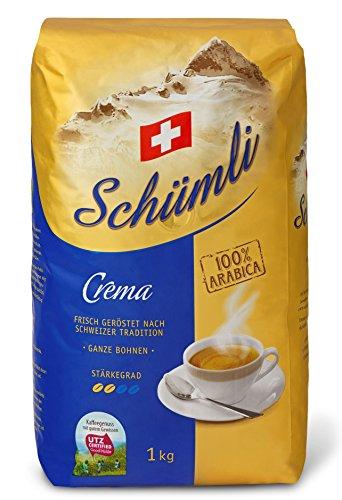 Schümli Crema Ganze Kaffeebohnen 1kg, 1er Pack (1 x 1000 g)