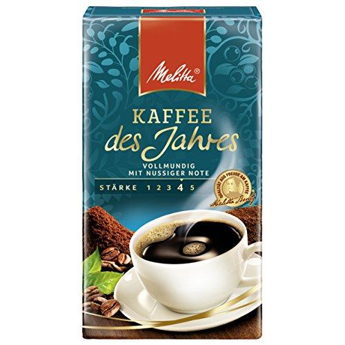 Melitta Gemahlener Röstkaffee, Filterkaffee, vollmundig mit nussiger Note, kräftiger Röstgrad, Stärke 4, Kaffee des Jahres, 6 x 500 g
