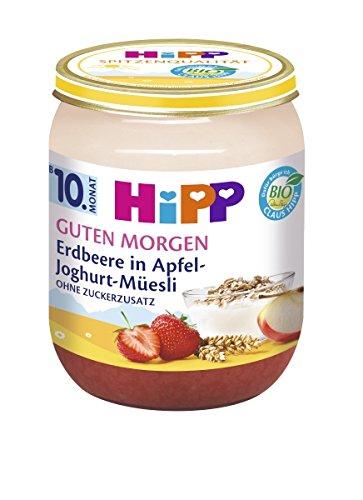 Hipp Guten Morgen, Erdbeere in Apfel-Joghurt-Müesli, 6er Pack (6 x 160g)