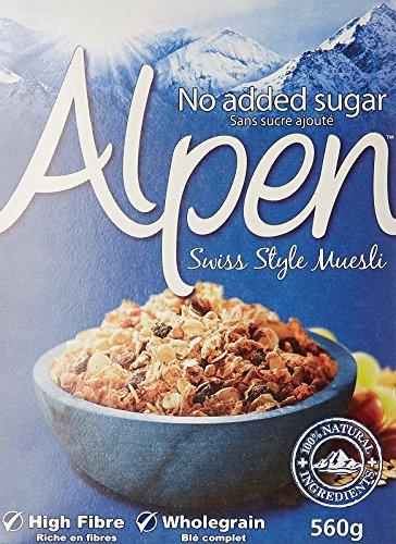 Weetabix Alpen Müsli ohne Zucker 560 g, 1er Pack (1 x 560 g)